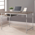 Grey Metal Computer Desk