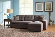Gus Black Chenille Sectional Sofa