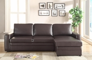 Gus Brown Leatherette Sectional Sofa
