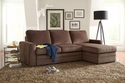 Gus Brown Microvelvet Sectional Sofa