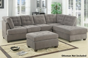 Gustav Grey Fabric Sectional Sofa