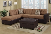Hagan Saddle Faux Leather Sectional Sofa