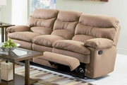Harmon Brown Microfiber Reclining Sofa