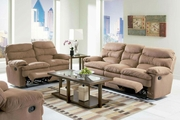 Harmon Brown Microfiber Reclining Sofa and Loveseat
