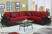 Playa Red Fabric Sectional Sofa
