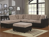 Henri Beige Fabric Sectional Sofa (Ottoman Sold Seperately)