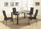 Hobson Black Metal And Glass Dining Table
