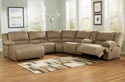 Hogan Mocha Tan Reclining Sectional Sofa