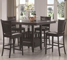 Jaden Rich Dark Cappuccino Wood Pub Table Set