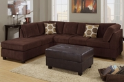Jael Chocolate Microfiber Sectional Sofa