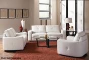 Jasmine White Leather Sofa and Loveseat Set