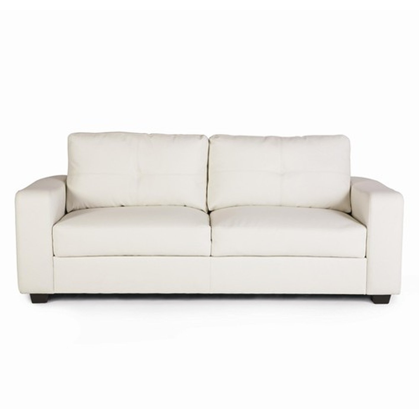 The Benefits Of Having A White Leather Sectional: Coaster Jasmine 502711 White Leather Sofa