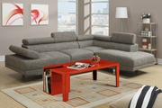 Jezebel Tan Fabric Sectional Sofa