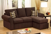 Jive Dark Brown Fabric Sectional Sofa