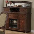Keely Brown Cherry Wood Curio