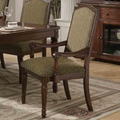 Keely Brown Cherry Arm Chairs (Min Qty 2)
