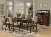 Keely Brown Cherry Wood Dining Table Set