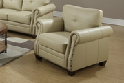 Beige Leather Chair