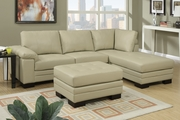 Khaki Leather Sectional Sofa