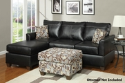 Kieran Reversible Black Sectional Sofa