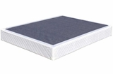 White Fabric Queen Size Box Spring