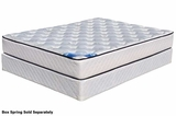 White Fabric Queen Size Innerspring Mattress