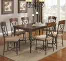 Klaus Cherry Metal And Wood Dining Table