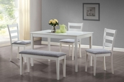 Knox White Wood Dining Table Set