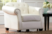 Kristyna Beige Leather Chair