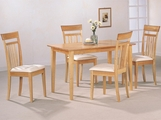 Las Olas Maple Wood Dining Table Set