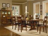Lavista Dark Oak Wood Dining Table Set