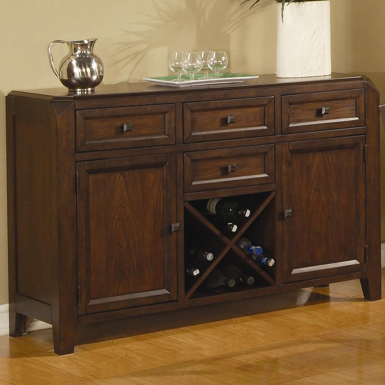 Coaster lenox 102165 brown wood buffet table in los angeles ca - Buffet table integree ...