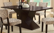 Libby Cappuccino Wood Dining Table Set