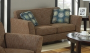 Lilian Brown Tweed Loveseat