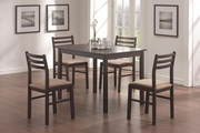 Lina Cappuccino Wood Pub Table Set