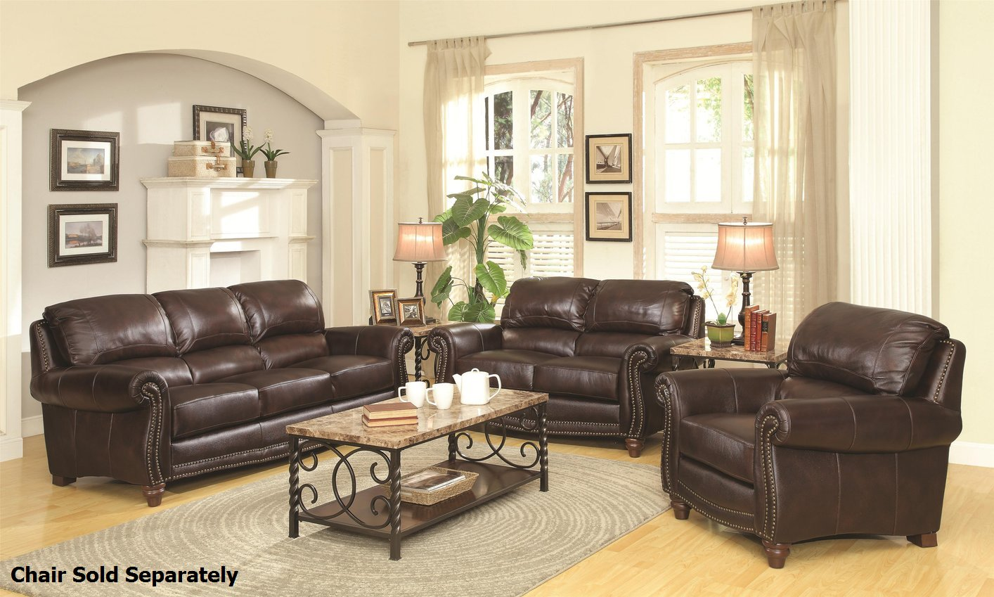 Modern Living Room With Brown Leather Sofa Leather Couch Set Divani Casa Wolford Modern Grey Leather Sofa