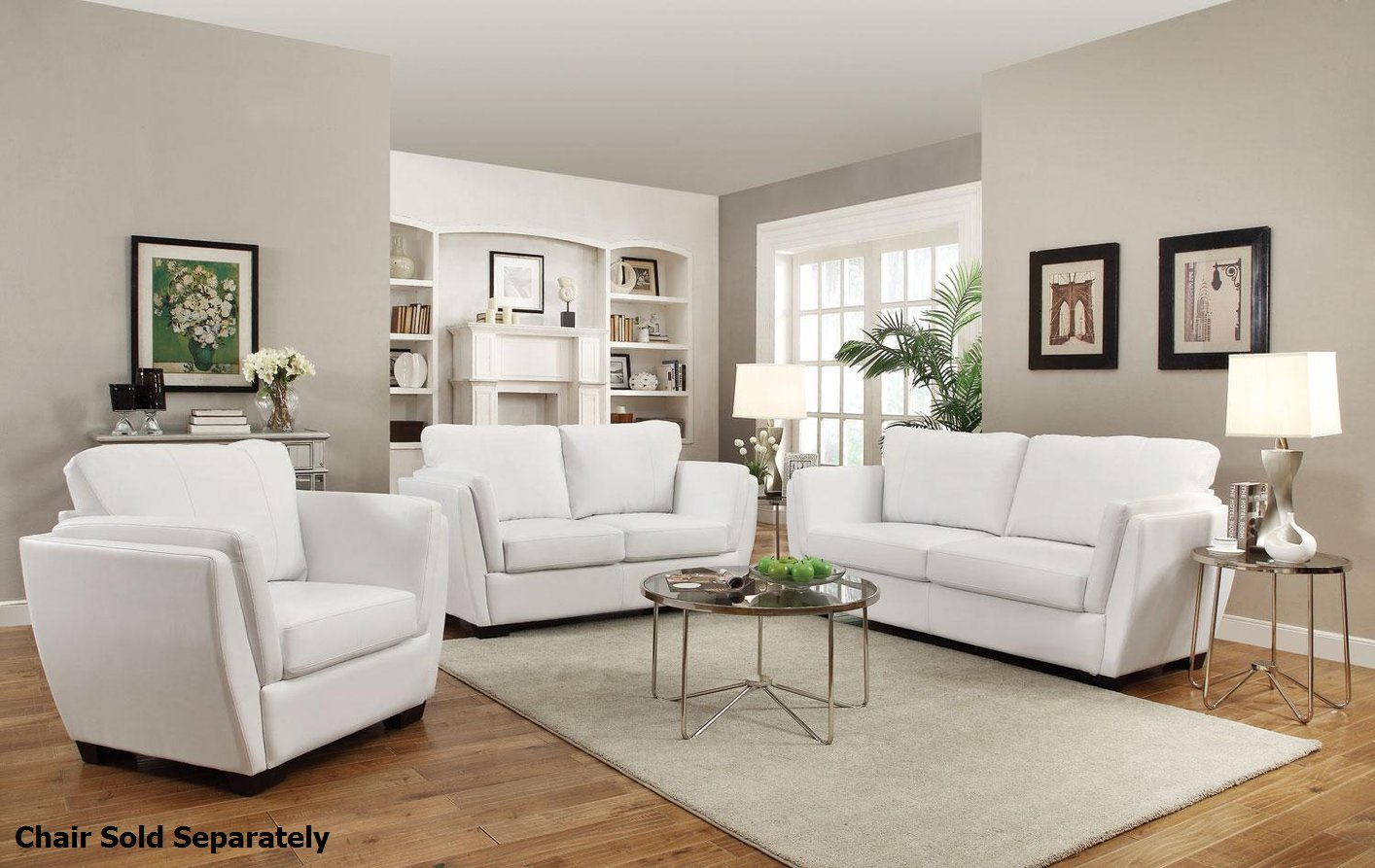 lois white leather sofa and loveseat set