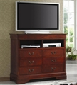 Louis Philippe Cherry Wood Media Chest