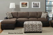Luben Dark Chocolate Sectional Sofa