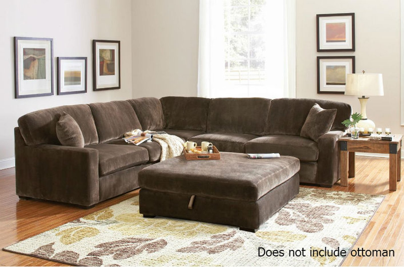 Coaster 500703 Brown Fabric Sectional Sofa Steal A Sofa