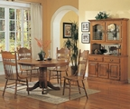 Mackinaw Warm Oak Wood Dining Table Set