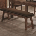Maddox Rustic Brown Wood Dining Bench
