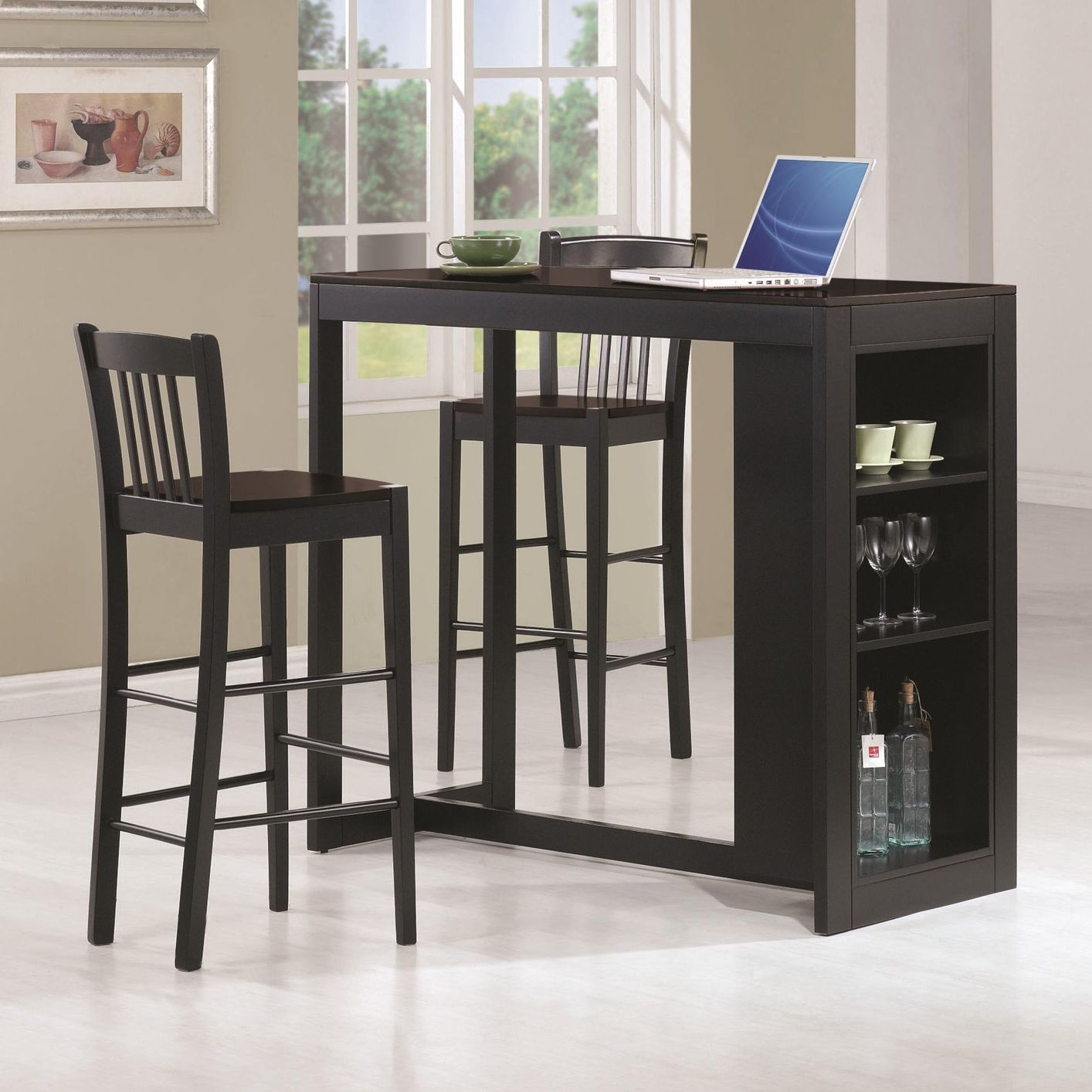 Gt dining gt bar amp counter height tables gt wood design high bar table - Kitchen Table With Storage Take Greater Advantage Of Your Small Counter Height Dining Table Inx Dining