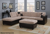 Mallory Beige Fabric Sectional Sofa