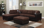 Mallory Brown Fabric Sectional Sofa