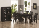 Marbrisa Cappuccino Wood Dining Table