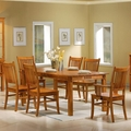 Marbrisa Medium Brown Wood Dining Table Set
