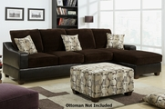 Mari Chocolate Sectional Sofa
