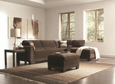 Mason Chocolate Velvet Sectional Sofa