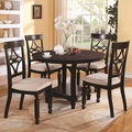 Maude Cappuccino Wood Dining Table Set
